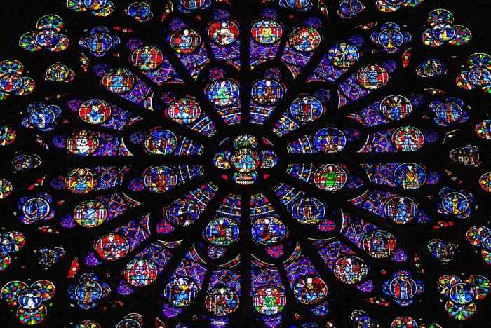 see Notre Dame's Rose Window in Paris