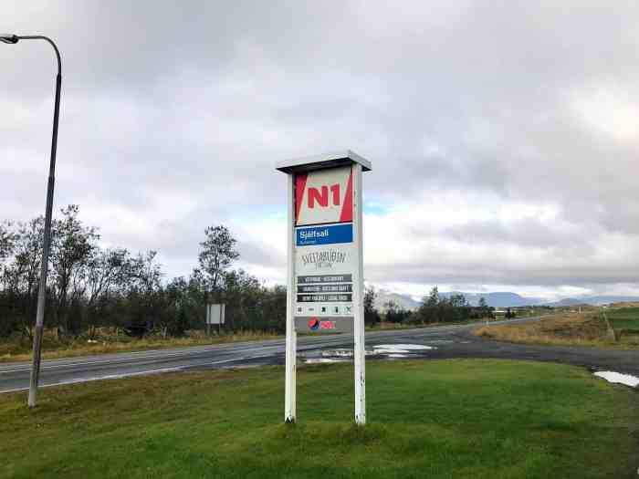 N1 gas stations in iceland