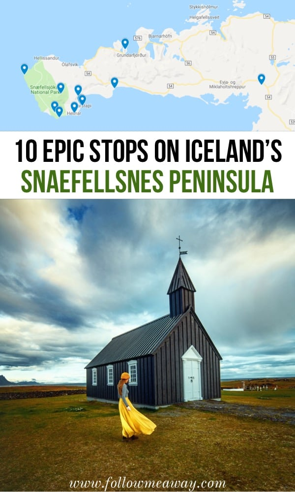 10 Epic Stops On The Snaefellsnes Peninsula And How To Find Them | Iceland travel tips | Top things to do in Iceland Snaefellsnes Peninsula | Traveling to Iceland's Snaefellsnes Peninsula | Budir Black Church Iceland | Iceland on a budget
