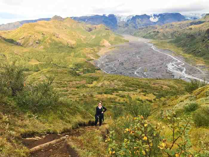 hiking in Thorsmork Iceland