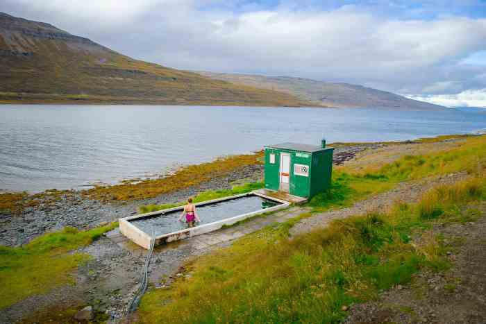 a Magical hot spring in Iceland located in the westfjords Iceland