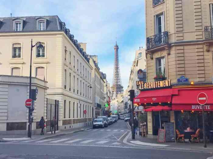 Rue Saint-Dominque is one of the best streets in Paris for the Eiffel Tower views | paris travel tips | paris photography