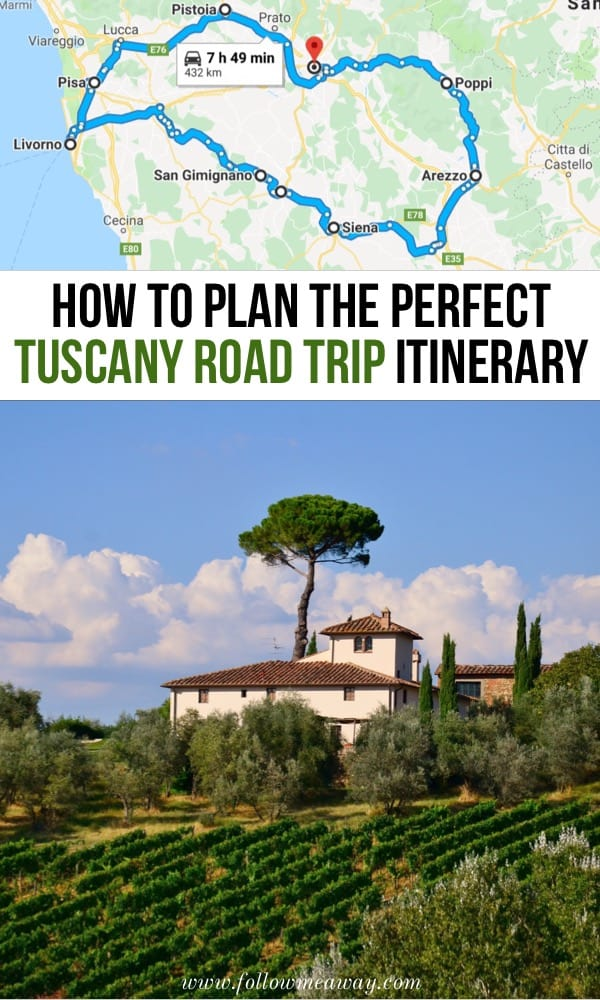 How To Plan The Perfect Tuscany Road Trip Itinerary | Tuscany Itinerary In Italy | Best Tuscany Travel Tips | What To Do In Tuscany | Best Tuscan Itinerary | Travel Italy Itinerary #tuscany #italy Tuscany road trip map