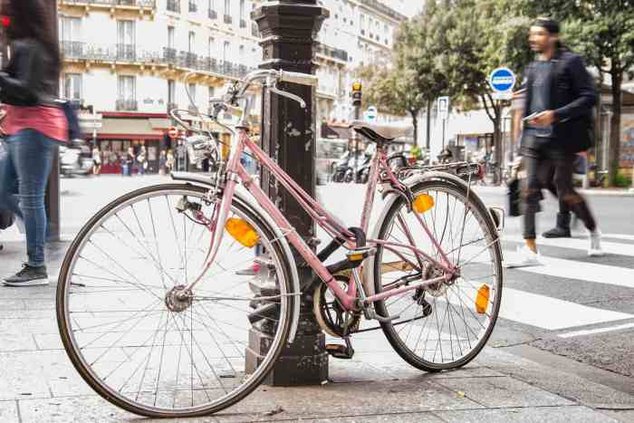 Biking is a popular way to get around Paris during your trip in the spring