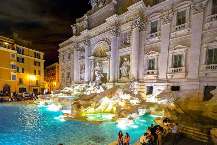 Rome is a wildly romantic Italian honeymoon location