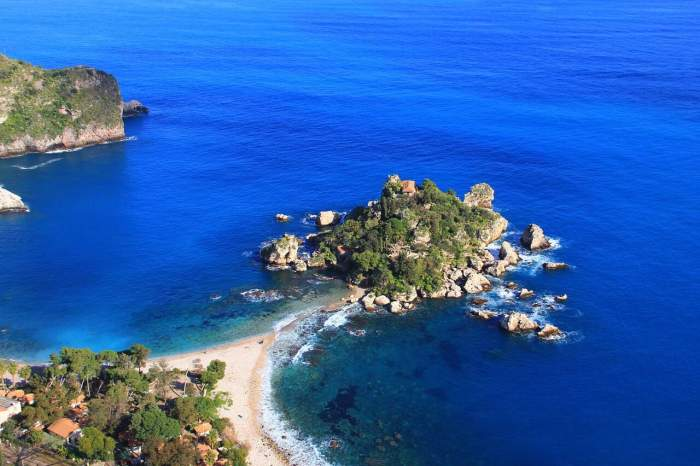 Isola Bella is one of the best beaches in Italy's Sicily region