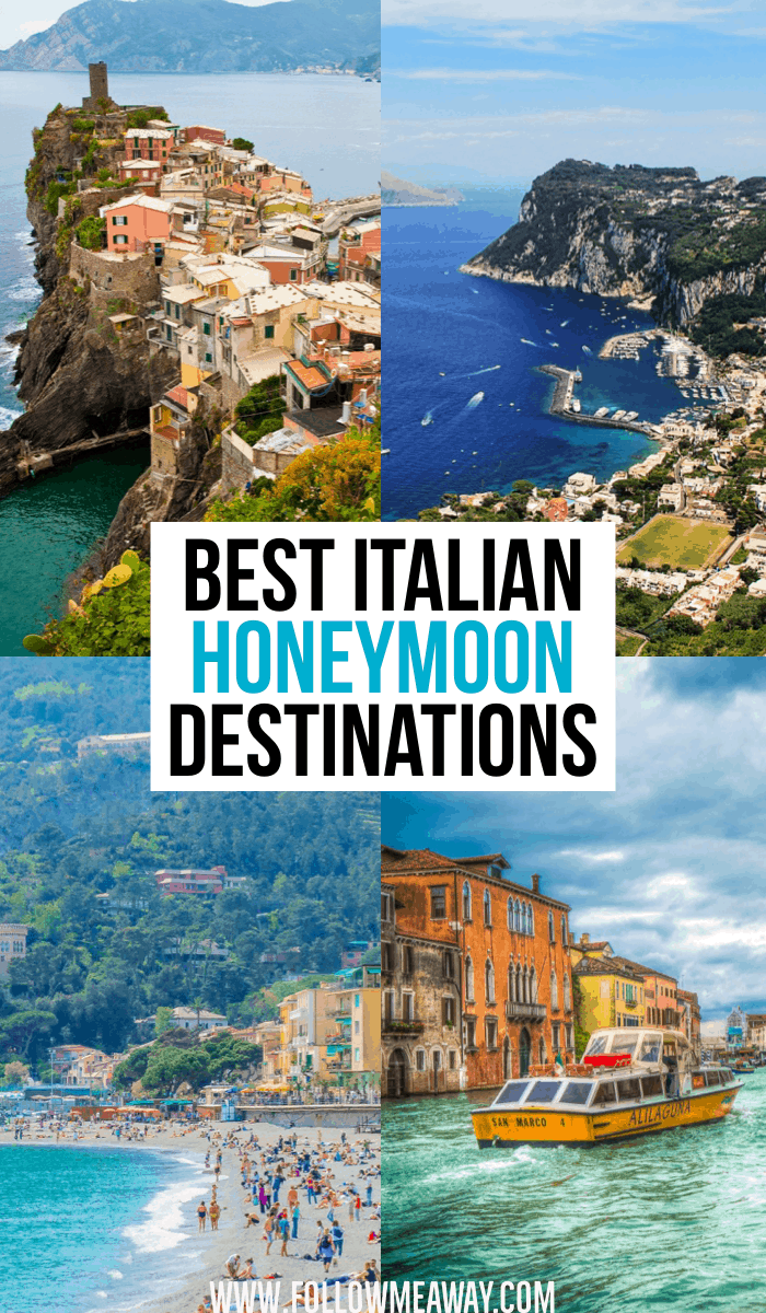Best Italian Honeymoon Destinations for planning your dream honeymoon to Italy. From Capri and Cinque Terre to Tuscany and Venice, these romantic honeymoon spots in Italy are perfect