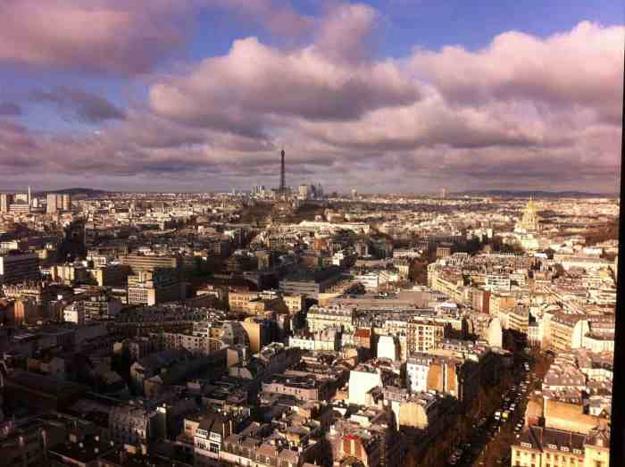 Montparnasse Tower Provides You With A Bird's Eye View Of The Sunset in paris