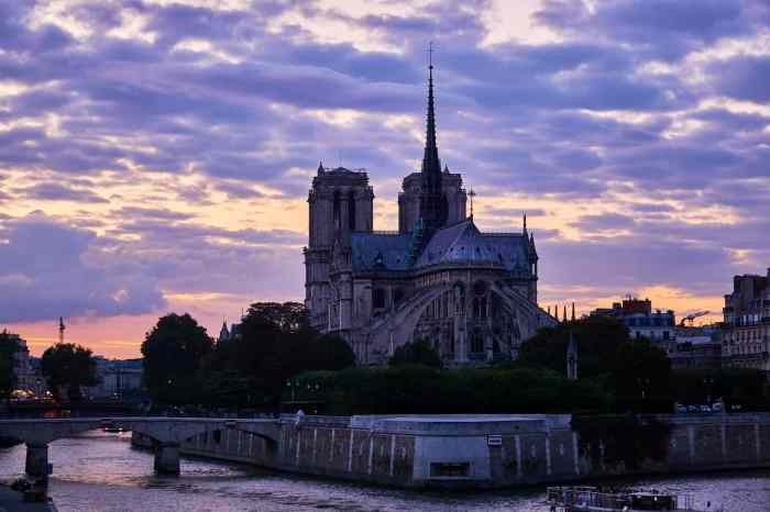 Notre Dame Cathedral Is A Centrally Located Spot For Sunset In Paris