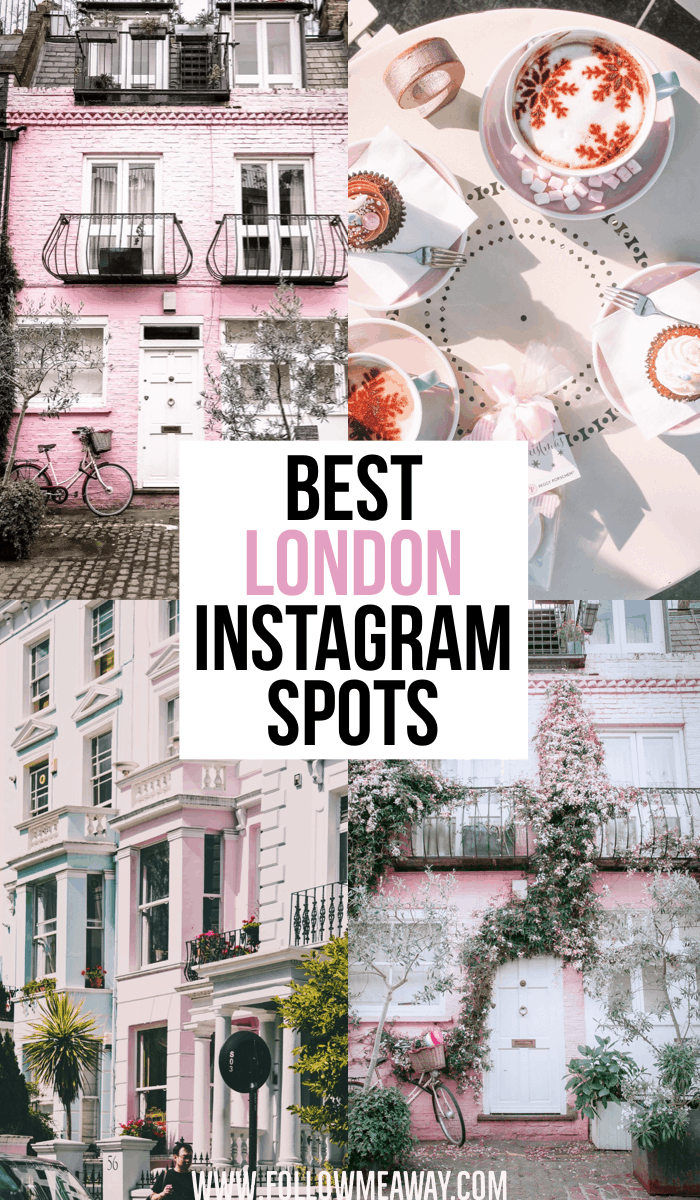 The Best London Instagram Spots | Instagram Guide To London | Pink House In Notting Hill London | Best Instagram spots in London | Prettiest Instagrammable Places In London | London travel tips | hidden gems in London
