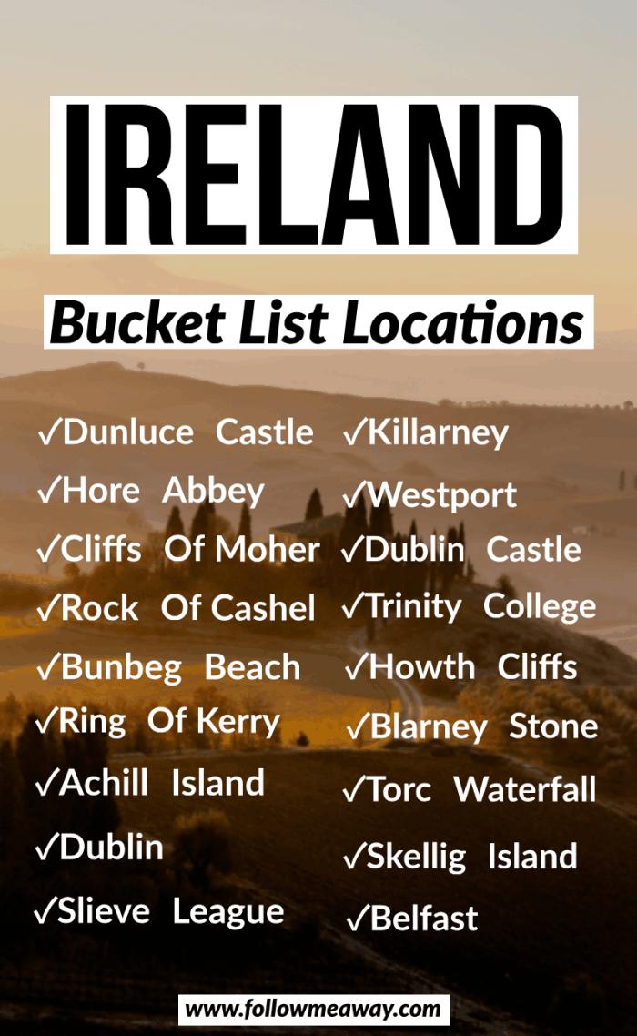 ireland bucket list locations