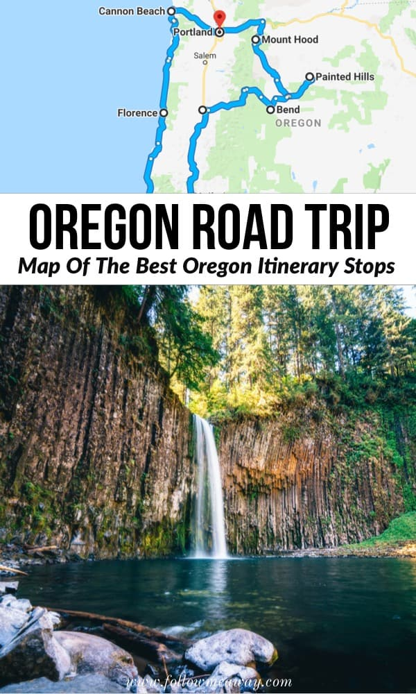 Oregon Road Trip: Map of the best oregon itinerary stops | best things to do in Oregon | oregon travel tips | travel to oregon and best oregon road trip stops