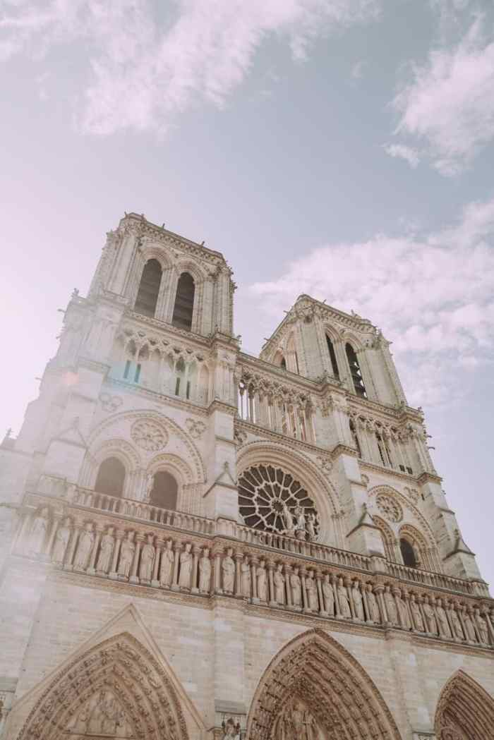 Notre Dame Cathedral is a unique place to see the Paris sunrise during your trip
