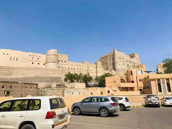 The parking lot at Bahla Fort