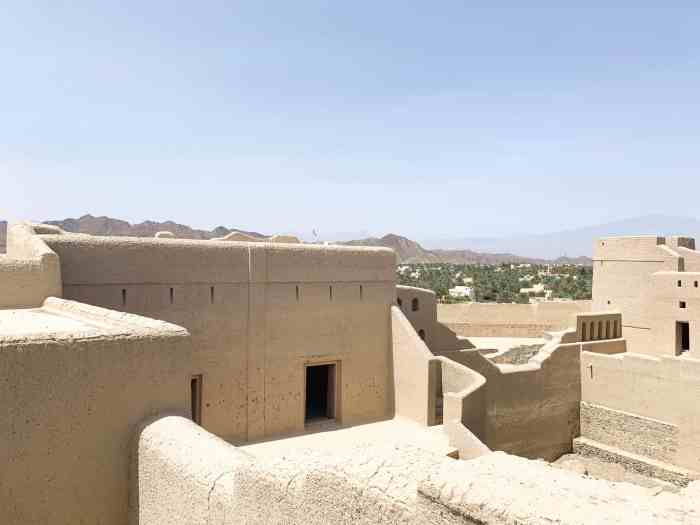 upper fort view at Bahla Fort in Oman
