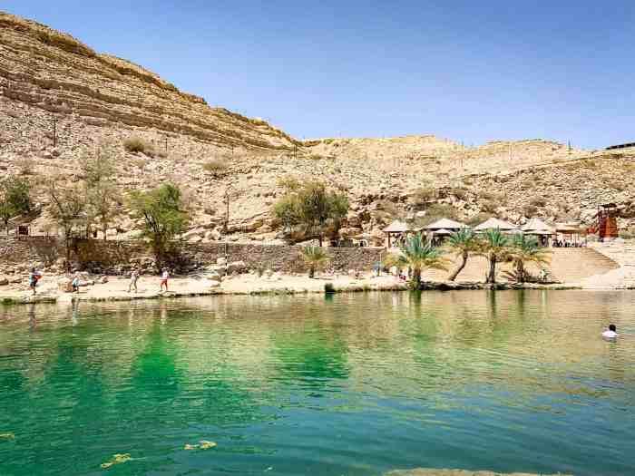 Dining at Wadi Bani Khalid