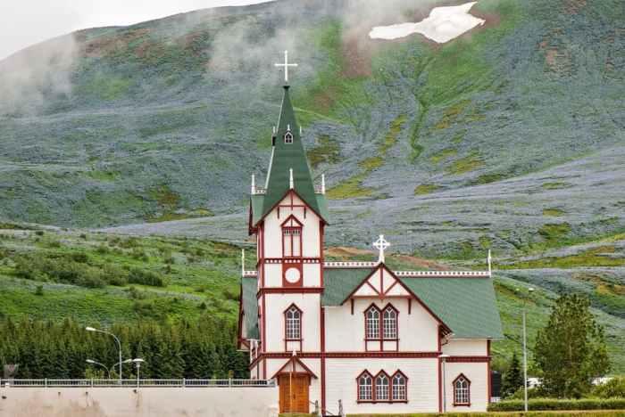 Husavikurkirkja Church is a magical church in Iceland