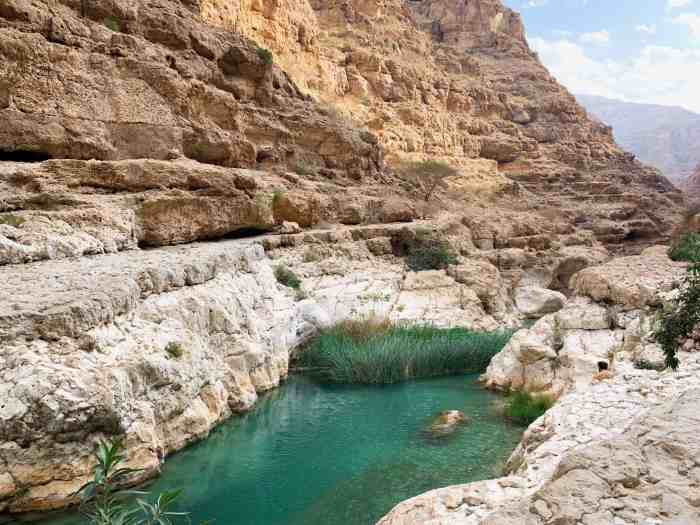 Swimming in the blue pools of Wadi Shab is one of the best things to do in Oman