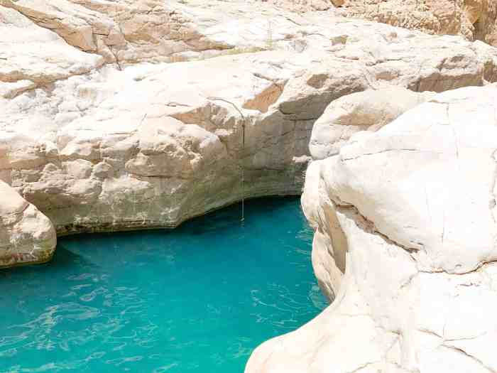 Swim In The Crystal Clear Waters Of Wadi Bani Khalid In Oman
