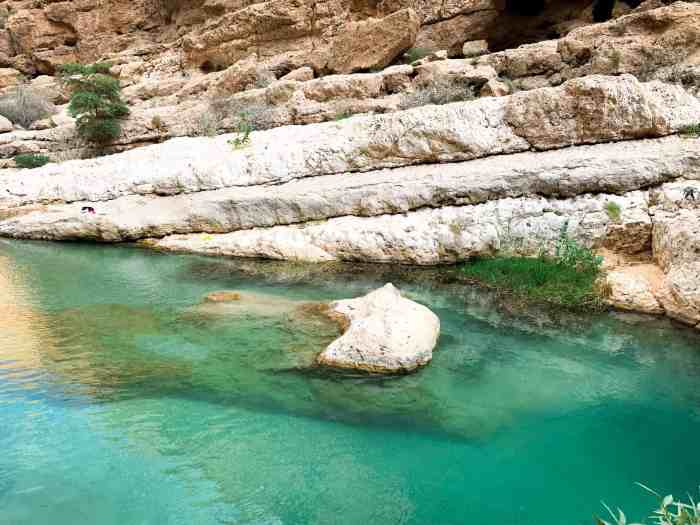 Stunning waters in Wadi Shab Oman