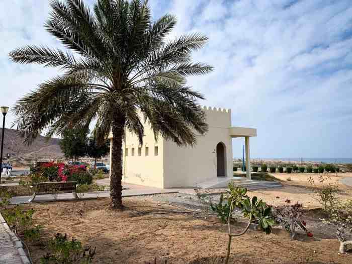 The bathrooms at Bimmah Sinkhole in Oman