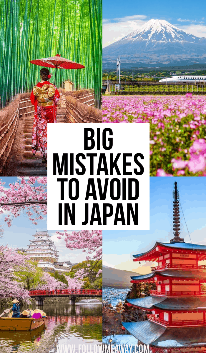 Big mistakes to avoid in Japan