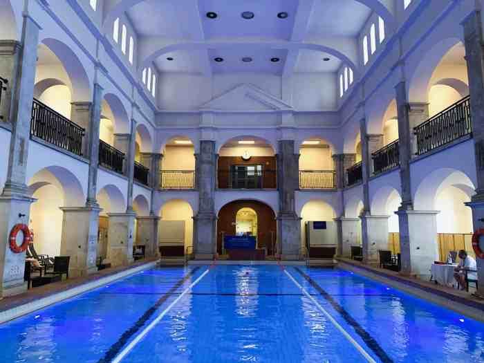 Rudas Baths Budapest main swimming pool