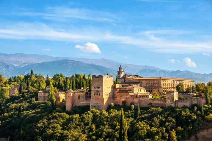 For a Moorish Castle in Europe stop by Alhambra in Spain