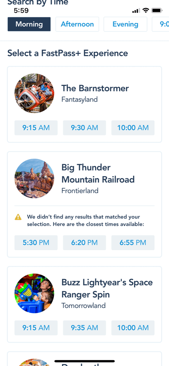plan fast passes in advance when planning a trip to Disney