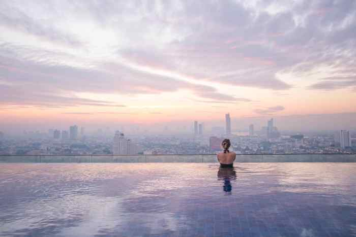 Missing out on the rooftop pools is a big mistake when planning a trip to Thailand
