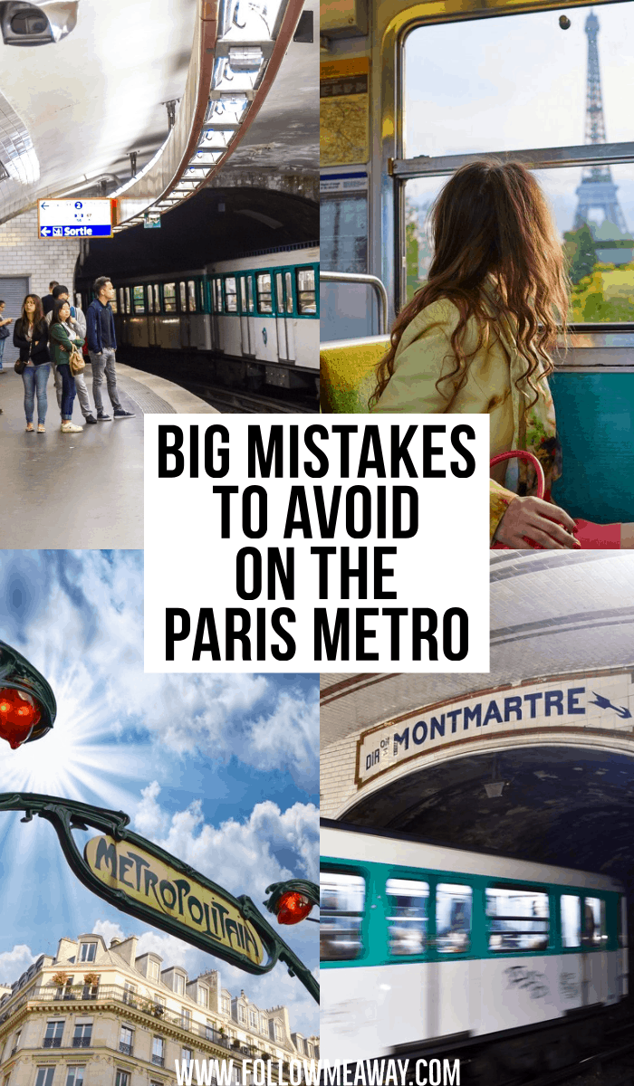 big mistakes to avoid on the paris metro