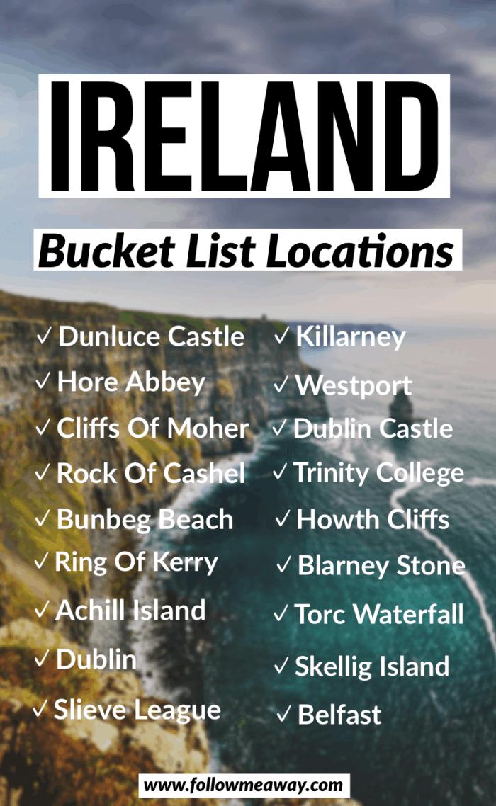 ireland bucket list locations road trip