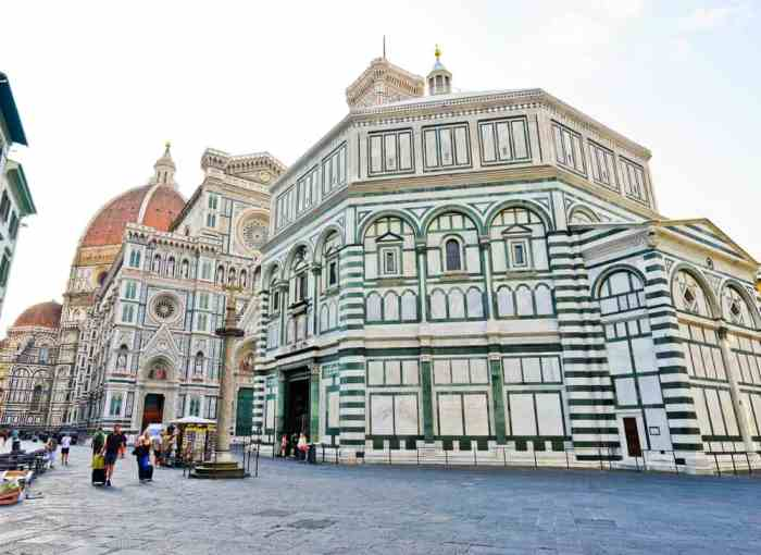 When visiting Florence in one day, a must see is the Baptistery of St. John