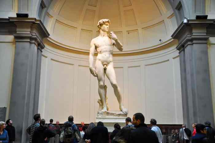 When spending one day in Florence you must see the statue of David which is housed at the Galleria dell'Accademia
