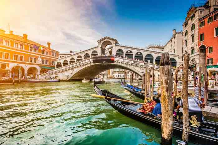 the rialto bridge is a great area to spend one day in venice