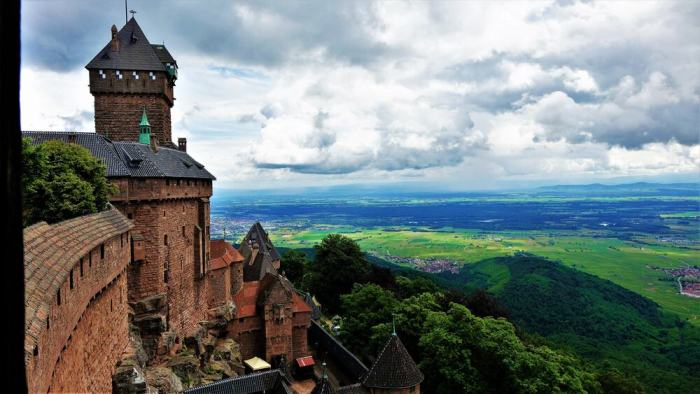 amazing view from Chateau du Haut-Kœigsbourg castle in france