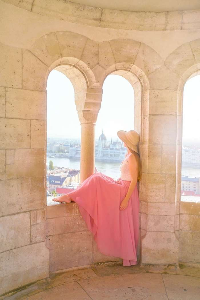 view from an upper turret at Fisherman's Bastion