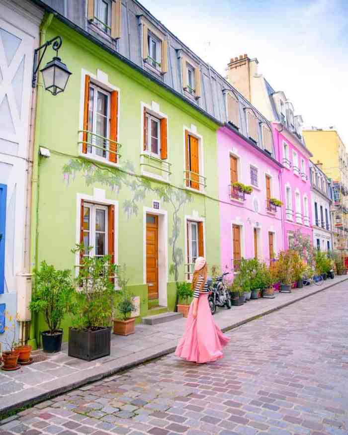 this street full of color and is one of the most beautiful places in paris