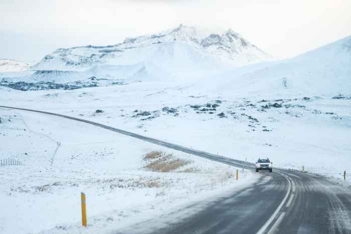 heed all road closures when driving in iceland in winter