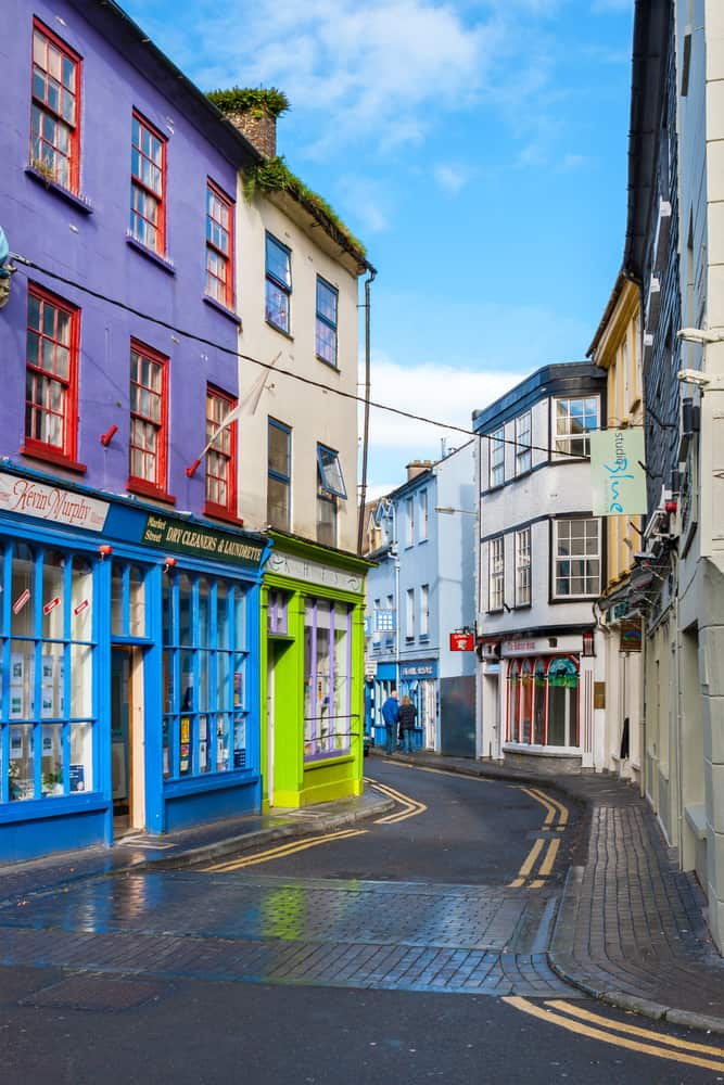 avoid renting a car in ireland in a small town like Kinsale shown here
