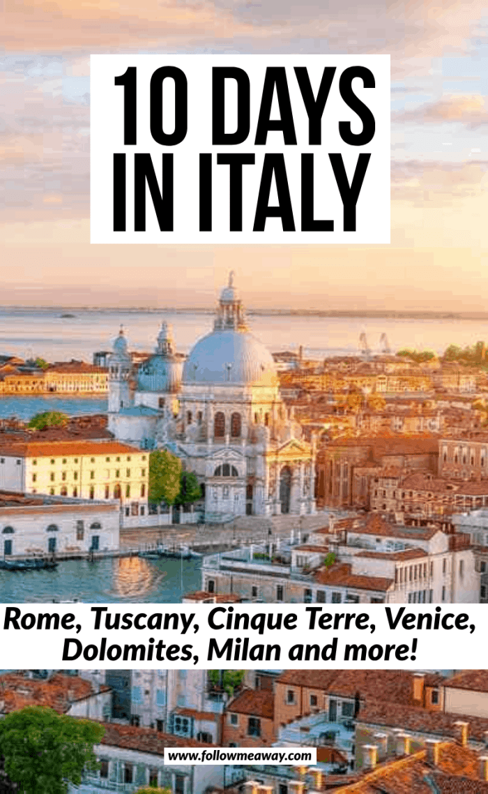 10 days in italy