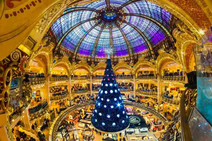 Check out the galleries lafayette during christmas in paris