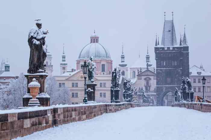 Visiting Prague in winter is incomplete without stopping by the iconic Charles Bridge