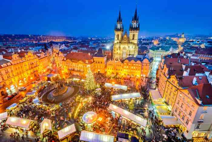 Shopping at the Christmas Market is one of the best activities in Prague in winter