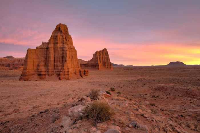 Utah road trip capitol reef at sunset stop