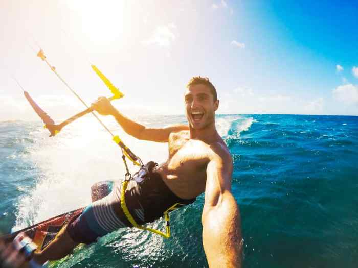 The GoPro Alternative FitFort 4K Action Camera is great for action shot adventures when you do water sports