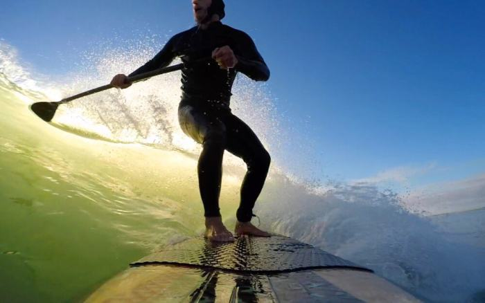 This GoPro Alternative, named Intova Dub Action Camera, is great for water sports like surfing!