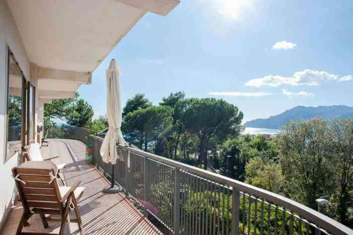 A sea-view from a balcony at Verde Smeraldo, Salerno. It's where to stay on the Amalfi Coast!