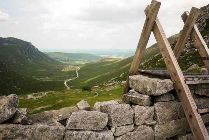 for one of the hikes in Ireland that is both easy and leads to Mountains check out Hare's Gap