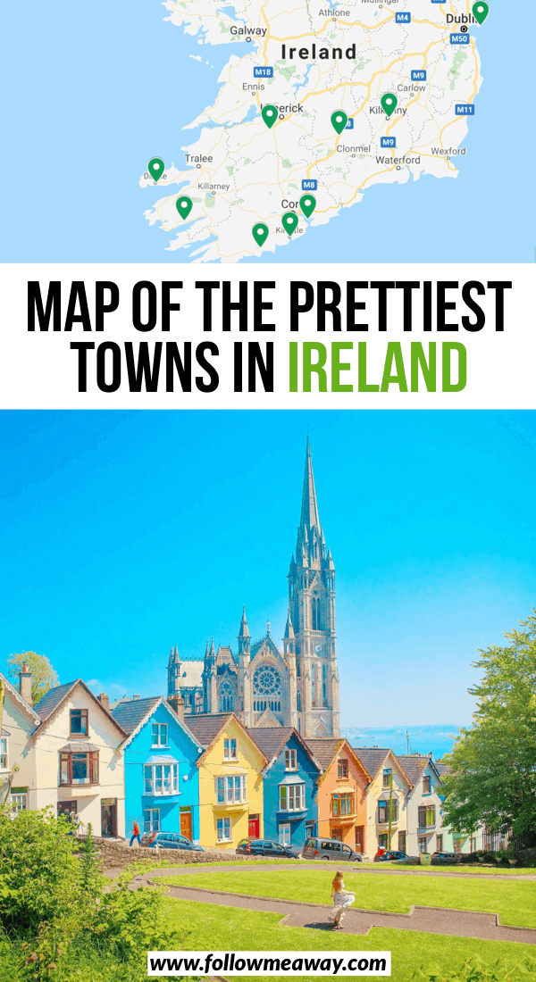 map of the prettiest towns in ireland
